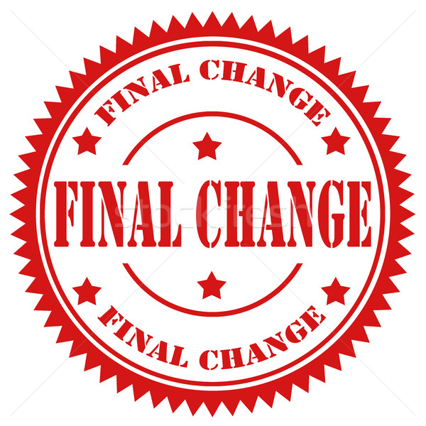 Final Change Stock photo © carmen2011