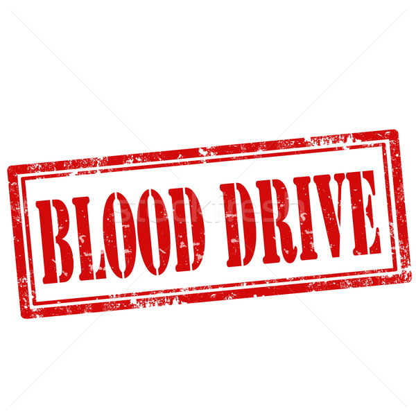 Stock photo: Blood Drive-stamp