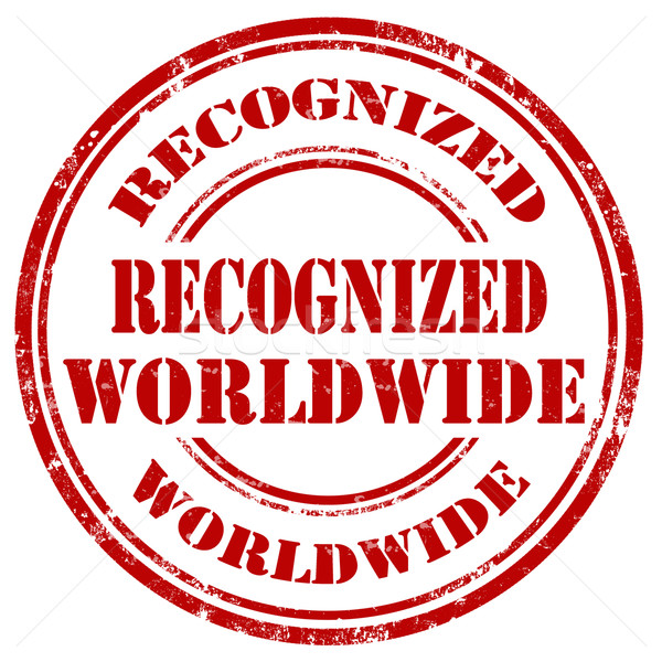 Recognized Worldwide-stamp Stock photo © carmen2011