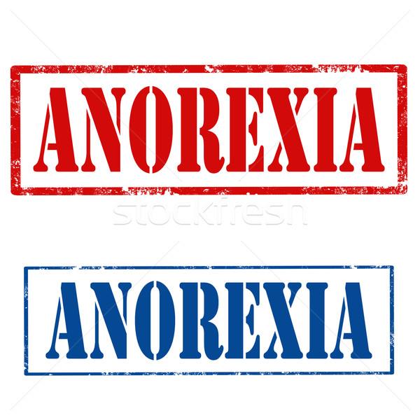 анорексия набор Гранж текста синий Сток-фото © carmen2011