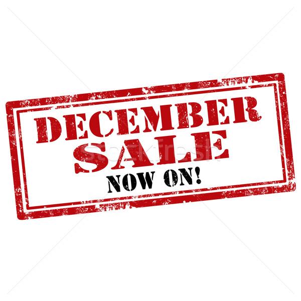 December Sale-stamp Stock photo © carmen2011