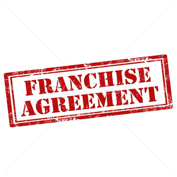 Franchise Agreement-stamp Stock photo © carmen2011