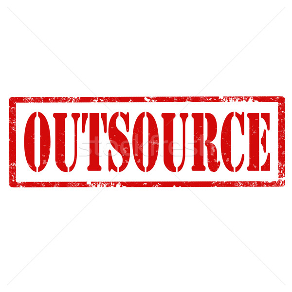 Outsource-stamp Stock photo © carmen2011