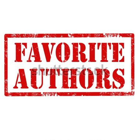 Favorite Authors-stamp Stock photo © carmen2011