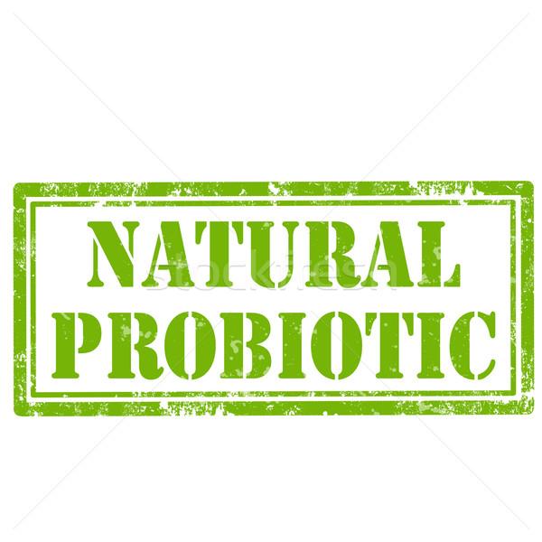 Natural Probiotic-stamp Stock photo © carmen2011