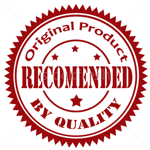 Recommended By Quality-stamp Stock photo © carmen2011