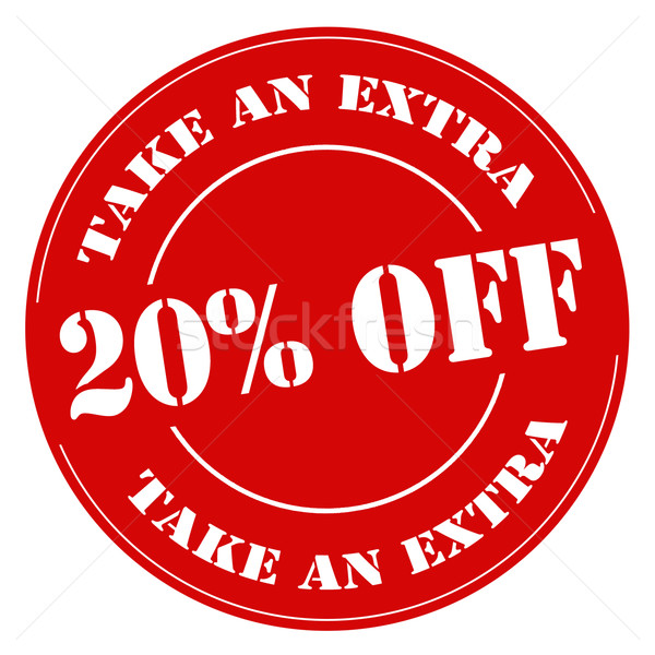 Take An Extra 20% Off-stamp Stock photo © carmen2011