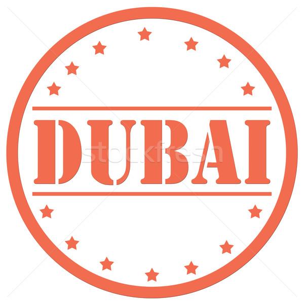 Piros bélyeg szöveg arab turizmus ikon Stock fotó © carmen2011