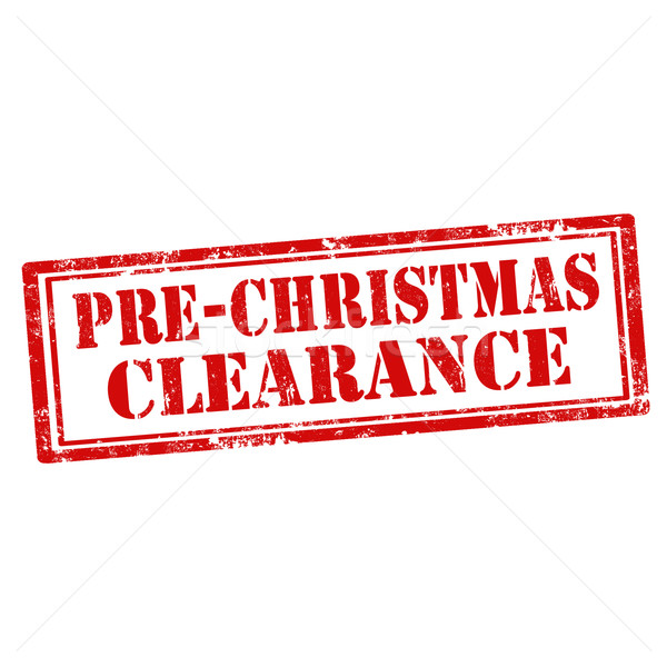 Pre-Christmas Clearance-stamp Stock photo © carmen2011