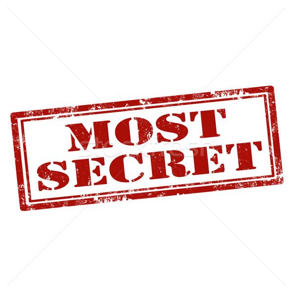 Most Secret-stamp Stock photo © carmen2011