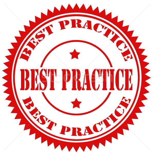 Best Practice-stamp Stock photo © carmen2011