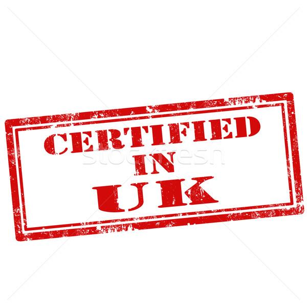 Certified In UK-stamp Stock photo © carmen2011