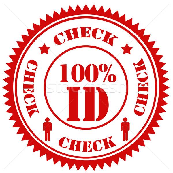 ストックフォト: チェック · 100 · イド · 赤 · スタンプ · 文字