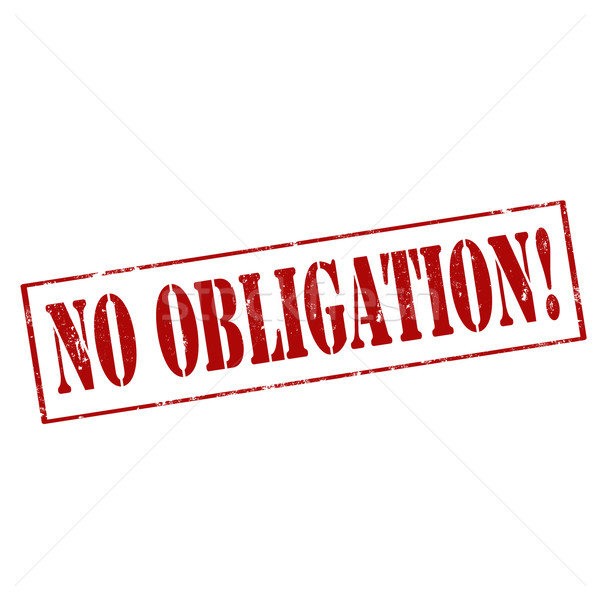 No Obligation!-stamp Stock photo © carmen2011