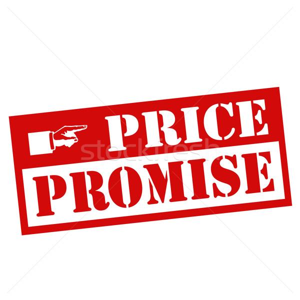 ár piros bélyeg szöveg felirat kiskereskedelem Stock fotó © carmen2011