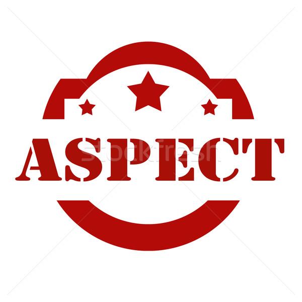 Aspect-red stamp Stock photo © carmen2011