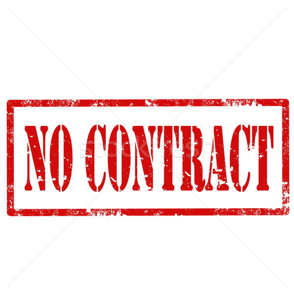 No Contract-stamp Stock photo © carmen2011