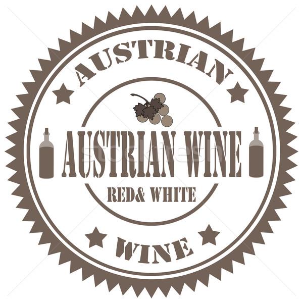 Austrian Wine-stamp Stock photo © carmen2011