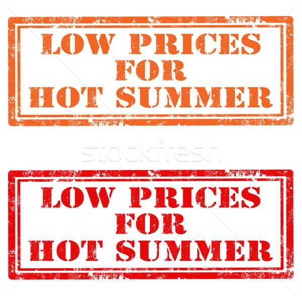 Foto stock: Baixo · preços · quente · verão · conjunto · grunge