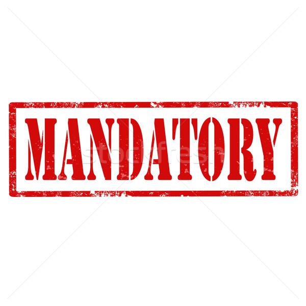 Mandatory-stamp Stock photo © carmen2011