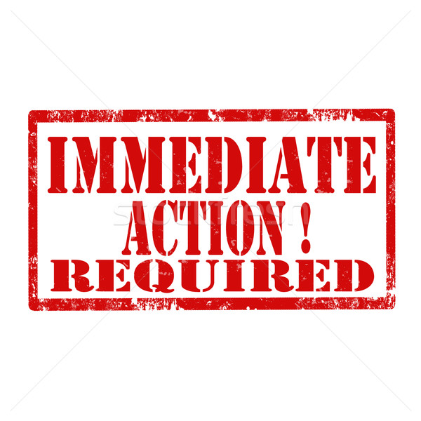 Immediate Action Required-stamp Stock photo © carmen2011