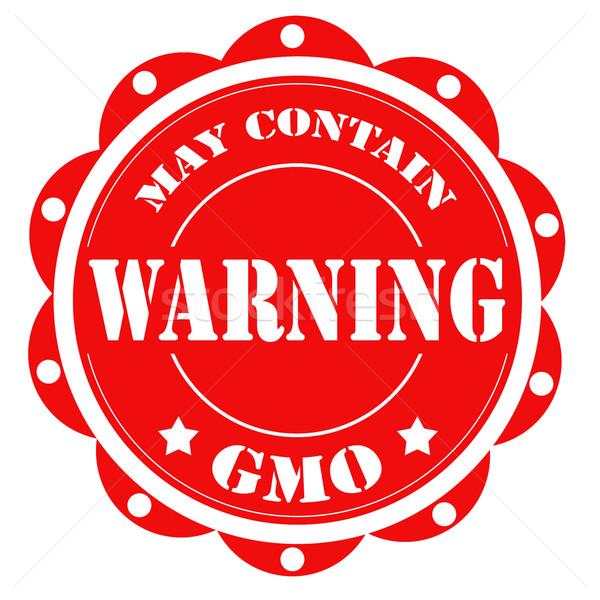Piros címke szöveg figyelmeztetés termék vektor Stock fotó © carmen2011