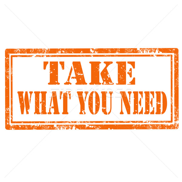 Stock photo: Take What You Need-stamp