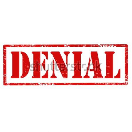 Denial-stamp Stock photo © carmen2011