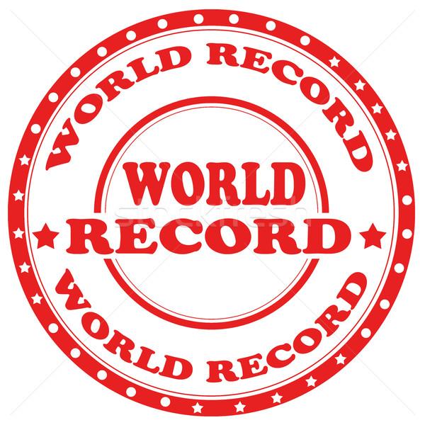 Wereld Rood stempel tekst teken succes Stockfoto © carmen2011