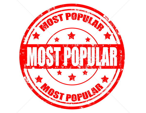 Most popular-stamp Stock photo © carmen2011