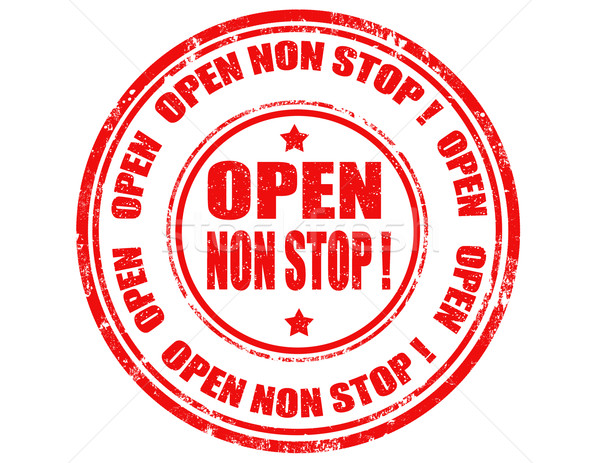 Open non stop-stamp Stock photo © carmen2011