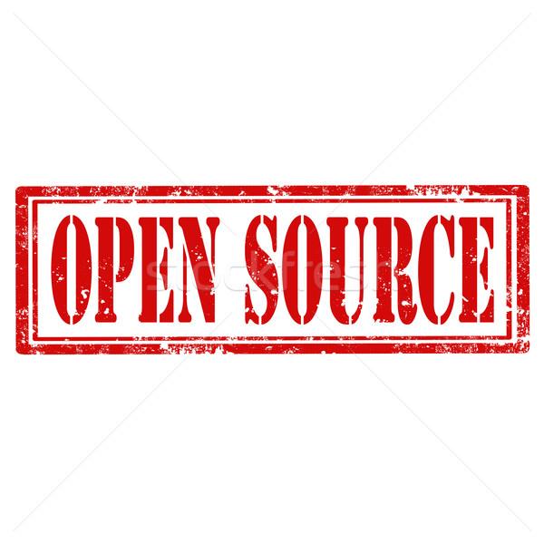Open Source-stamp Stock photo © carmen2011