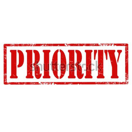 Stock photo: Priority-stamp