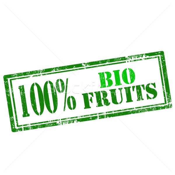 Bio fruits grunge texte 100 Photo stock © carmen2011