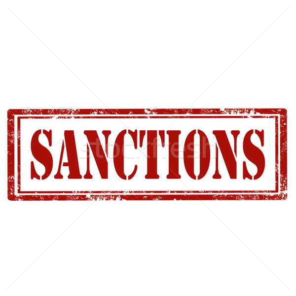 Stock photo: Sanctions-red stamp
