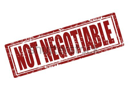 Not negotiable-stamp Stock photo © carmen2011