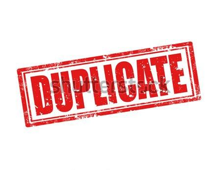Duplicate-stamp Stock photo © carmen2011