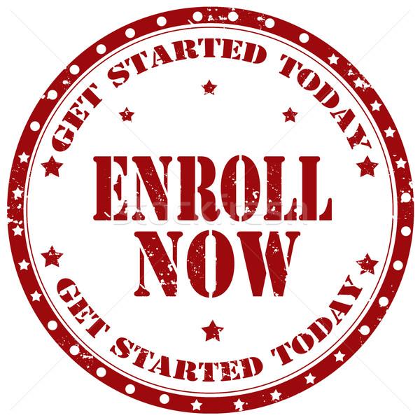 Enroll Now-stamp Stock photo © carmen2011