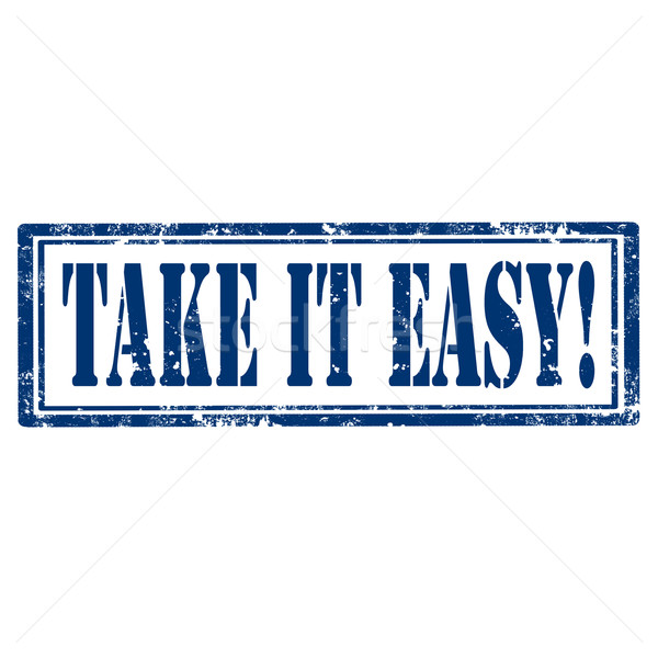 Stock photo: Take It Easy-stamp
