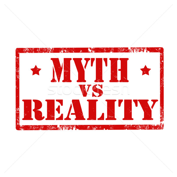 Myth vs Reality-stamp Stock photo © carmen2011