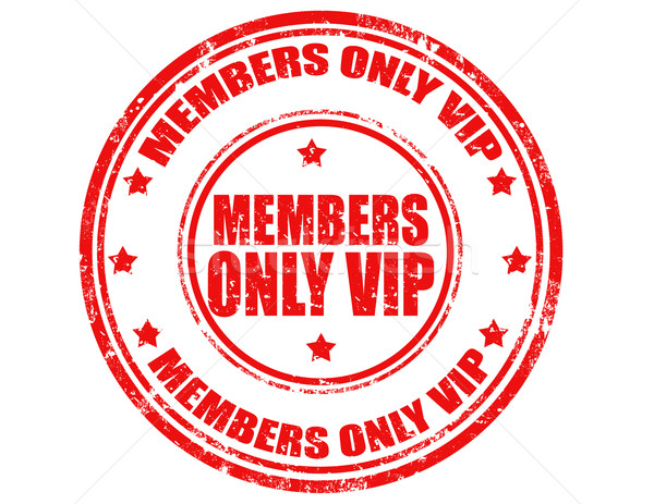 Members only VIP-stamp Stock photo © carmen2011