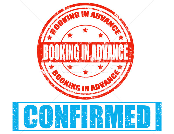 Booking in advance-stamp Stock photo © carmen2011