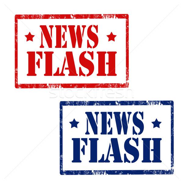 Новости Flash набор Гранж резиновые марок Сток-фото © carmen2011
