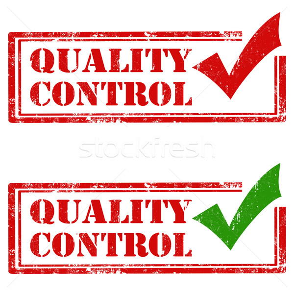品質管理 セット グランジ ゴム スタンプ 文字 ストックフォト © carmen2011