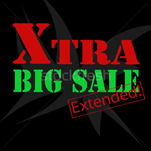 Extra groot verkoop business groene Rood Stockfoto © carmen2011