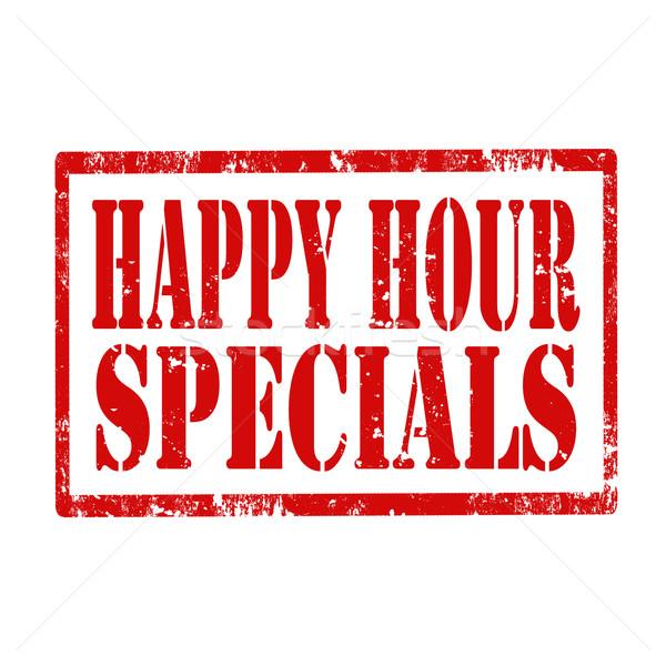 Happy Hour-stamp Stock photo © carmen2011