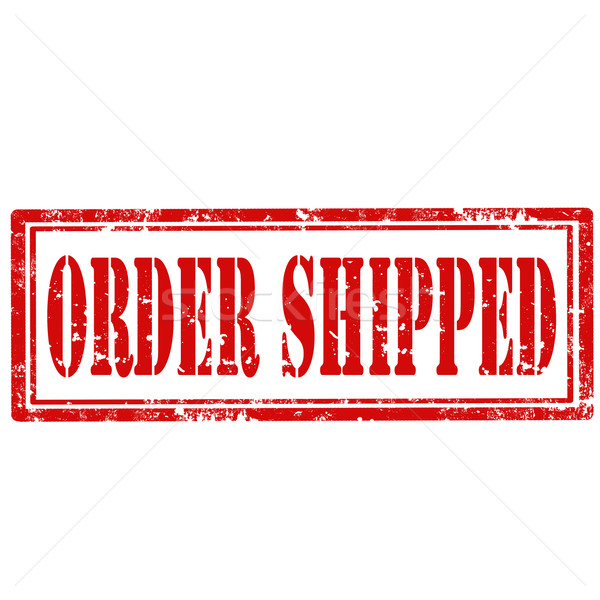 Order Shipped-stamp Stock photo © carmen2011