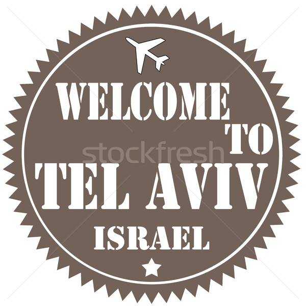 Welcome To Tel Aviv-label Stock photo © carmen2011