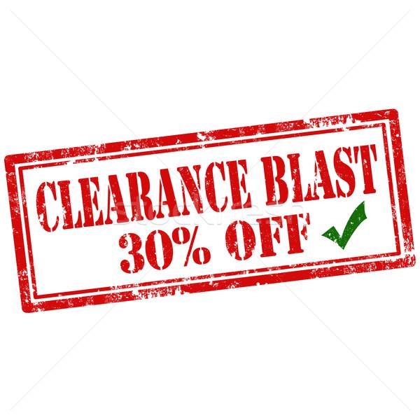 Clearance Blast-stamp Stock photo © carmen2011