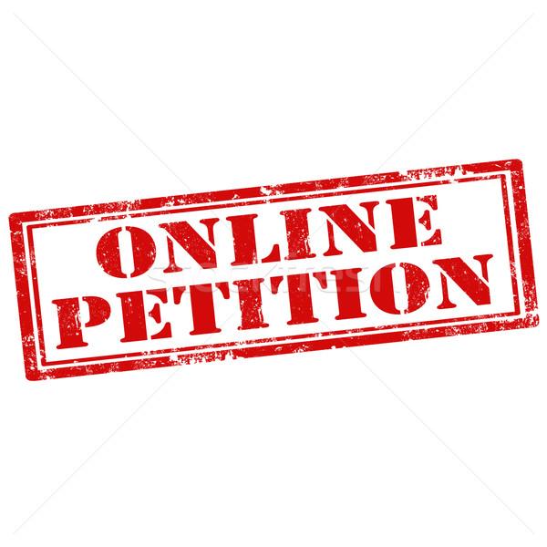 On-line petição grunge texto escritório Foto stock © carmen2011